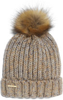 Nine West Shaker Stitch Beanie With Pom