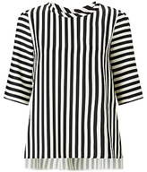 Marella Riva Stripe Blouse, Black/White