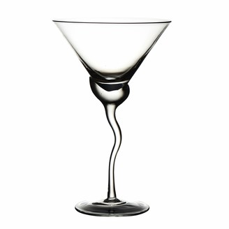 "Abigails Martini Glass Wave Stem Measures 5.75"" L x 5.75"" W x 9.5"" H"