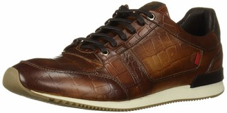 Marc Joseph New York Men's Leather Made in Brazil Luxury Fashion Trainer Croco Detail Sneaker
