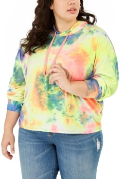 Planet Gold Plus Size Tie-Dye Hoodie