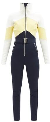 Cordova Alta Chevron-panelled Soft-shell Ski Suit - Blue Multi