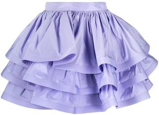 Elisabetta Franchi High-Waisted Maxi-Flounce Skirt