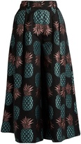 House of Holland Pineapple-jacquard culottes