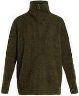Etoile Isabel Marant Declan oversized high-neck ribbed-knit sweater