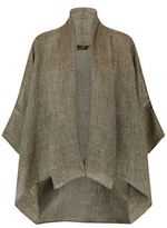 eskandar Wide Short Sleeve Shawl Collar Jacket