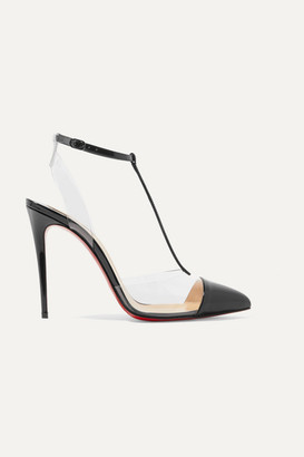 Christian Louboutin Nosy 100 Patent-leather And Pvc Pumps - Black