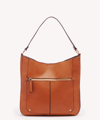 Sole Society Women's Irma Hobo Vegan Bag Leather Cognac Vegan Leather From