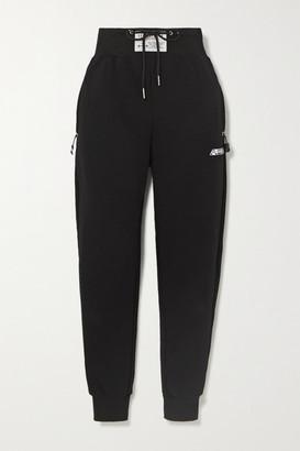Adam Selman Sport Cotton-blend Jersey Track Pants - Black