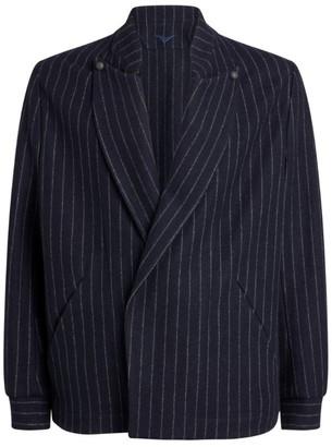 Sease Wool-Cashmere Pinstripe C-Blazer