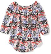 Old Navy Floral Raglan-Sleeve Swing Tee for Toddler