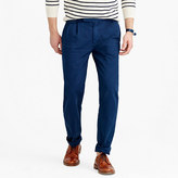 J.Crew Wallace & Barnes double-pleated relaxed-fit military chino