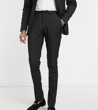 Asos DESIGN Tall wedding skinny suit pants in black