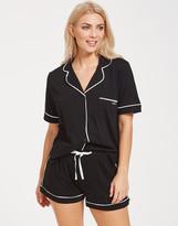 DKNY New Signature Short Sleeved Top & Boxer PJ Set