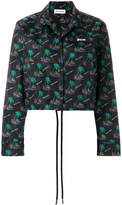 Palm Angels Islands cropped coach jacket