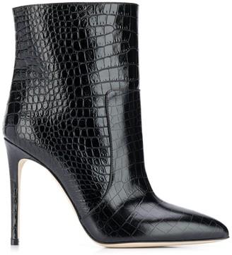 Paris Texas Croco-Effect Boots