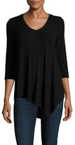 Three Dots Angie 3/4 Sleeve Asymmetrical Top