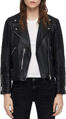 AllSaints Estella Quilted Leather Biker Jacket