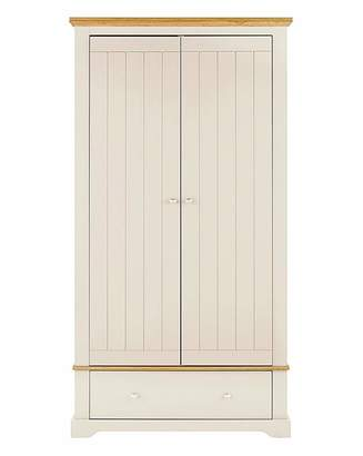 At Home Collection Hampton 2 Door 1 Drawer Wardrobe