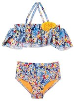 Hula Star 'Heavy Petal' Two-Piece Swimsuit (Toddler Girls & Little Girls)