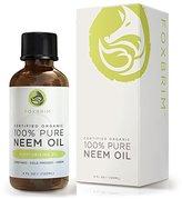 Foxbrim Organic Neem Oil - Nutrient Rich Oil For Hair, Skin & Nails - Treat Acne, Fade Fine Lines, Heal Stretch Marks, Moisturize Hair & Scalp - 4OZ