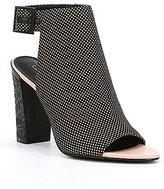 Calvin Klein Norah 2 Lace Block Heel Peep Toe Shooties