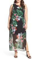 Vince Camuto Plus Size Women's Havana Tropical Maxi Dress