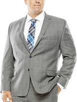 COLLECTION Collection by Michael Strahan Gray Windowpane Suit Jacket - Big & Tall