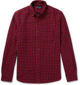 Alex Mill Button-down Collar Gingham Double-faced Cotton-flannel Shirt - Red