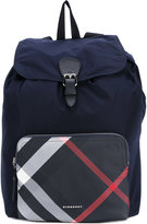 Burberry house check backpack - men - Calf Leather/Leather/Polyamide/Polyester - One Size