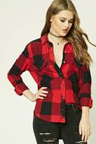 Forever 21 Distressed Gingham Shirt