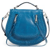 Rebecca Minkoff Small Vanity Leather Saddle Bag - Blue