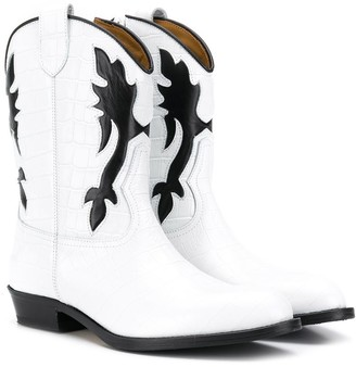 Gallucci Kids TEEN crocodile effect boots
