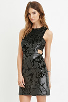Forever 21 FOREVER 21+ Contemporary Sequined Cutout Dress