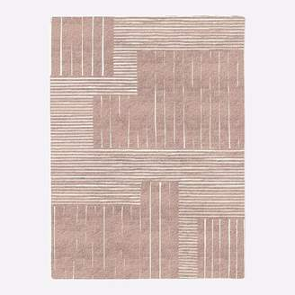 west elm Painted Mixed Stripes Rug