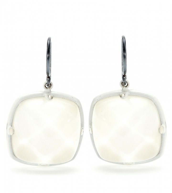 Bottega Veneta FACETED MOTHER OF PEARL GLASS EARRINGS
