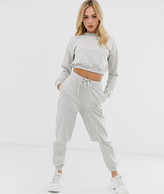 Asos Design DESIGN tracksuit cropped sweat / slim jogger with tie