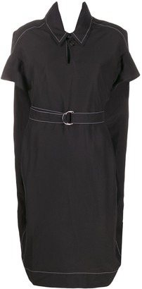 Marni Contrast Stitch Belted Shirt Dress