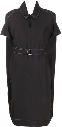 Marni contrast stitch belted shirt dress