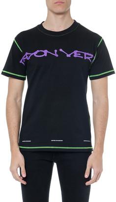 United Standard Black Cotton Printed T Shirt