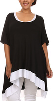 Canari Black & White Scoop Neck Tunic - Plus