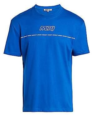McQ Men's Logo Dropped Shoulder Graphic T-Shirt