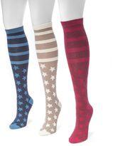 Muk Luks Women's 3-pk. Stars & Stripes Knee-High Socks