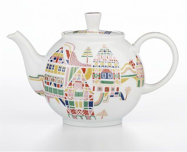 Crate & Barrel November Teapot by Julia Rothman