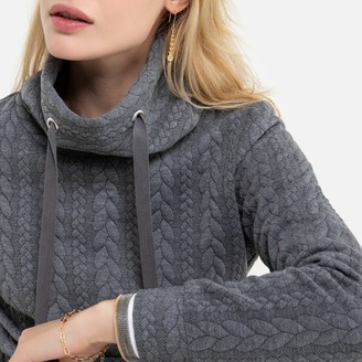 Anne Weyburn Cable Knit Sweatshirt