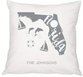 Cathy's Concepts Cathys Concepts Personalized My State Cotton Throw Pillow Cathys Concepts Customize: Yes