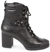 Valentino Garavani Rockstud Leather Stacked-Heel Combat Boots