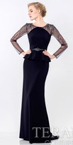 Terani Couture Refined Peplum Evening Dress
