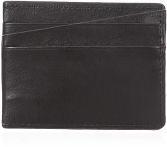 Buxton Men's Emblem Front Pocket Magnetic Money Clip Slim Minamalist Wallet