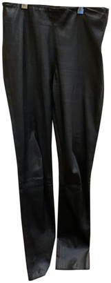 Georges Rech Black Leather Trousers